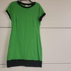 NWOT t-shirt dress green with black trim